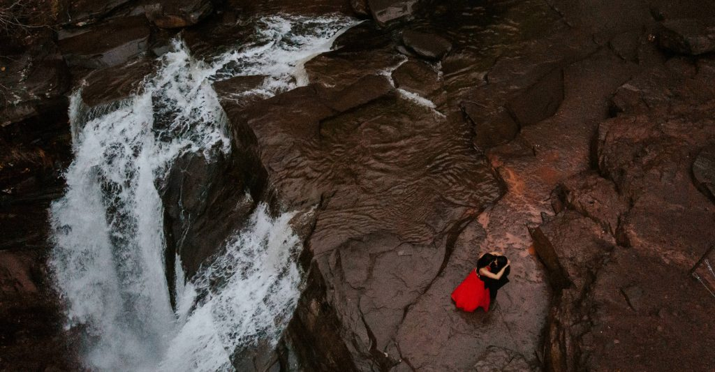 Kaaterskill Falls Engagement Photo Session Same Sex Couple